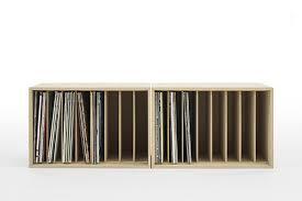 Storage Box Wooden Dividers Vinyl Record Storage  LP 12 Inch  Shelf Records Rack Shelves  Lp96