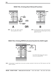 msd ignition wiring diagrams msd 7al 3 using rpm activated switch for shift light