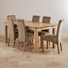 oak dining table and chairs. Edinburgh Natural Solid Oak Dining Set 6ft Extending Table And Chairs