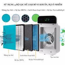 Máy lọc không khí thông minh KC30: Tạo Ion âm, màng lọc HEPA lọc bụi lông  động vật khử mùi formaldehyde