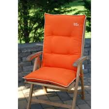orange with beige high back patio chair cushions set of 2 blue and