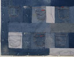 Denim Quilt with Jeans Pockets For Sale at 1stdibs & Denim Quilt with Jeans Pockets 2 Adamdwight.com