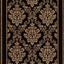 natco kurdamir damask black 33 in x your choice length stair runner 2069bkwrh the home depot