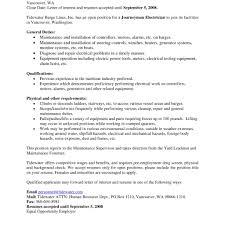 Apprentice Electrician Resume Construction Standard Electrical