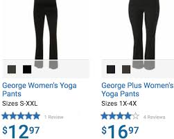 Walmart Sports Bra Size Chart Its Not Right Shoppers Angry Over Walmart Charging More