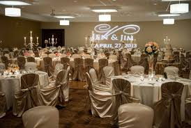 hilton garden inn cleve peach taupe and cream wedding reception