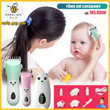 Tông đơ cắt tóc sơ sinh, cắt tóc trẻ em 0-15 tuổi Lukbaby cắm sạc siêu bền  [TẶNG KÈM KHĂN TRÙM]