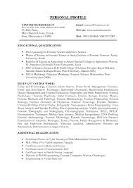 forensic science resume examples resume examples  resume
