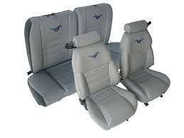 1997 1998 ford mustang gt coupe front rear with small headrest seat upholstery kit u654