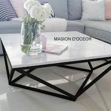 white black modern marble coffee table