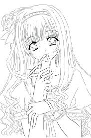 Coloring Pages Of Anime Anime Coloring Pages Anime Girl Coloring