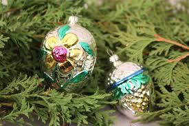 Christbaumschmuck Weihnachtskugeln Zapfen Floral Silber Glas Weihnachten Deko