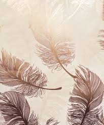 plume foil rose gold wallpaper