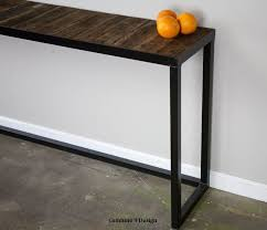 vintage sofa table. Custom Made Sofa Table. Steel/Reclaimed Wood. Modern/Urban/Vintage. Vintage Table T
