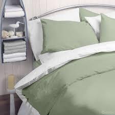 sage green plain polycotton duvet cover