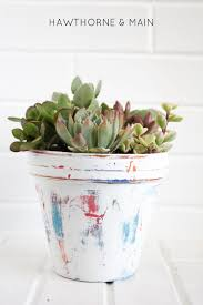 check out this easy way to get a worn look on a flower pot it