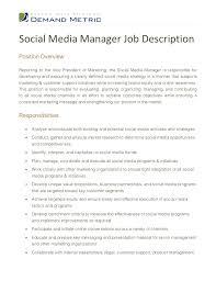 Social Media Marketing Job Description socialmediamanagerjobdescription100100jpgcb=100354789055 2