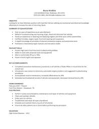 automotive resume template resume templat automotive resume automotive technician resume automotive