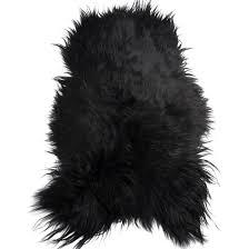 black icelandic sheepskin rug