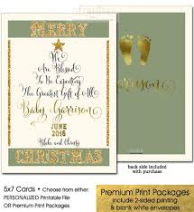 Print Baby Announcement Cards Christmas Pregnancy Announcement Holiday Pregnancy