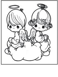Angel Coloring Pages Precious Moments Coloringstar