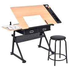 drafting table modern drawing desk adjule folding craft station art hobby white furniture mid century