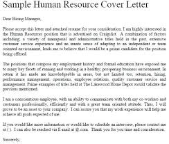 Ideas Collection Cover Letters For Human Resources Sweet Partnerfo