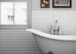 chromatic ceramic tile series traditional bathroom toronto metro white bevelled subway