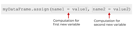 how to use the pandas ign method to