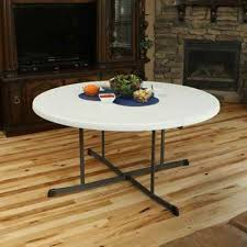 lifetime 60 in round fold in half folding table white 60 in