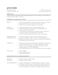 Cool Fashion Student Resume Objective Pictures Inspiration Entry