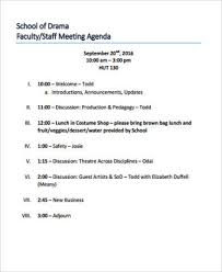 sample agendas for staff meetings 8 sample staff meeting agenda free sample example format download