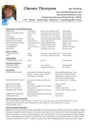 Free Musician Resume Template Acting Resume Sample Musical Theatre Resume Template Yralaska 79