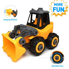 wistoyztake apart toys car truck for toddlers gift for 3 4 5 year old boys s diy toys bulldozer toys for 3 4 5 year old kids walmart