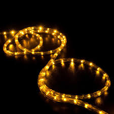 led rope light saffron yellow 150 feet