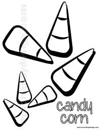 Small Picture Printable Halloween Coloring Page of Candycorn MochaBayDesigncom