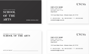 business card office business cards uncsa