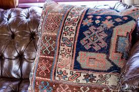 1900s oriental rug pillow