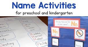Chart Paper For Kindergarten Name Activities For Preschool And Kindergarten Primary Delight
