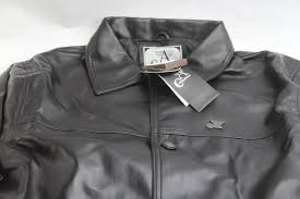 armani collezioni leather jacket