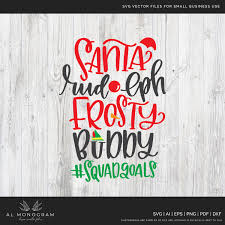 Also included are 2 high resolution 300dpi png the elf made me do it free clipart files with transparent backgrounds, ideal for printable wall art, and other printable projects! Squad Goals Christmas Buddy Elf Svg Cut File Al Monogram