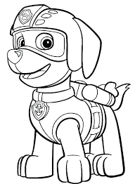 Paw Patrol Chase Badge Coloring Page Stephanielahart