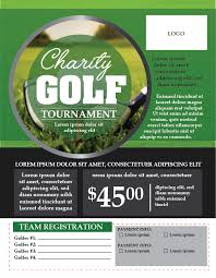 Golf Tournament Flyer Template Golf Flyer Template Illustrator Cc Fully Editable