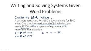 word problems using systems of linear equations worksheet 958842 myscres