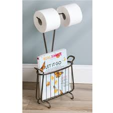 Toilet Roll Holder Magazine Rack Amazon InterDesign Axis Free Standing Toilet Paper Holder And 22