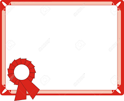 Blank Red Certificate On Letter Format Royalty Free Cliparts