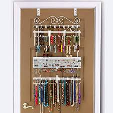 amazon longstem organizers over door wall jewelry organizer rated best unique patented white home kitchen