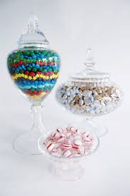 Decorative Glass Candy Jars Treats from Economy Candy double as a centerpiece in decorative 3
