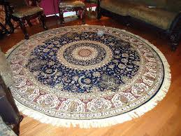 blue circle rug entrance 8 ft round foot rugs contemporary wool duck egg