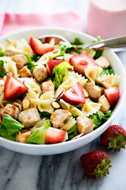 grilled chicken salad with strawberries. Plain Grilled This Salad Is Loaded With Grilled Chicken Strawberries Bow Tie Noodles  And Romaine Lettuce Throughout Grilled Chicken Salad With Strawberries 2